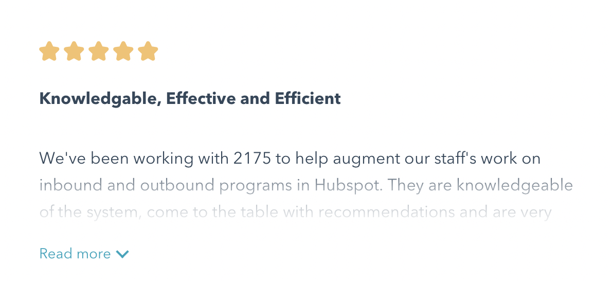 HubSpot certified. Client approved.